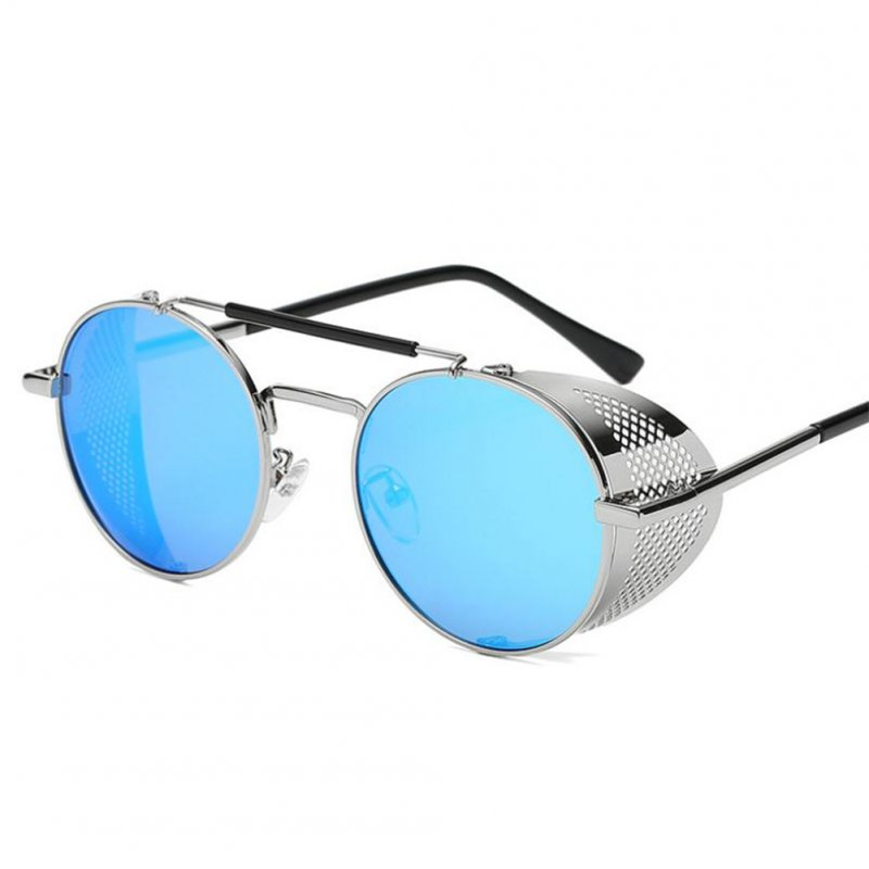 Outdoor Fashion Sunscreen Glasses TAC Lens Polarized/Not Polarized Glasses for Outdoor Sports Silver frame ice blue_Polarized light