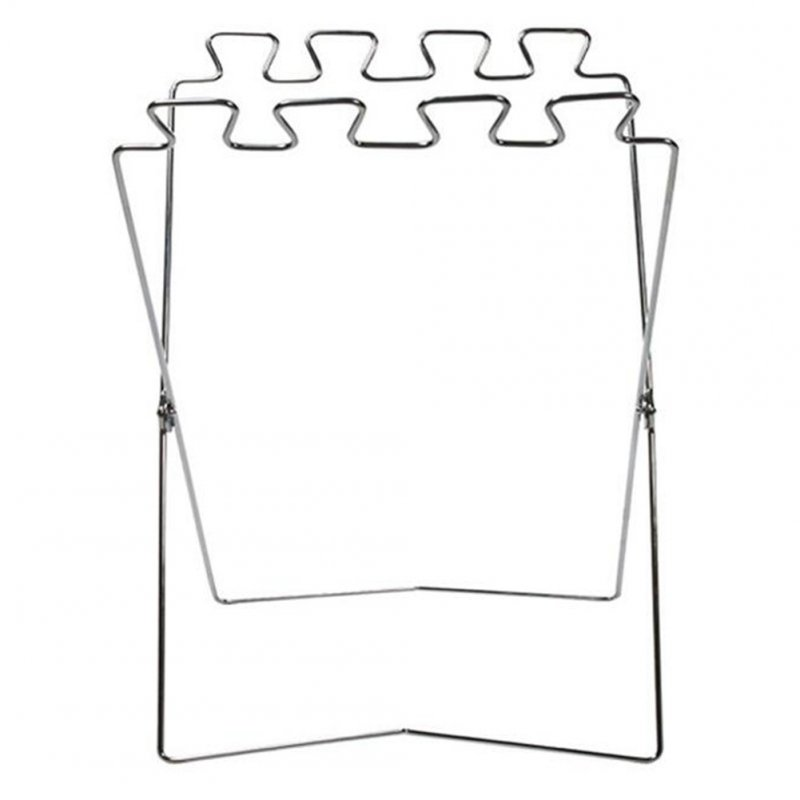 Outdoor Garbage Bag Storage Bracket Stainless Steel Folding Trash Bag Stand Holder 57 * 31cm