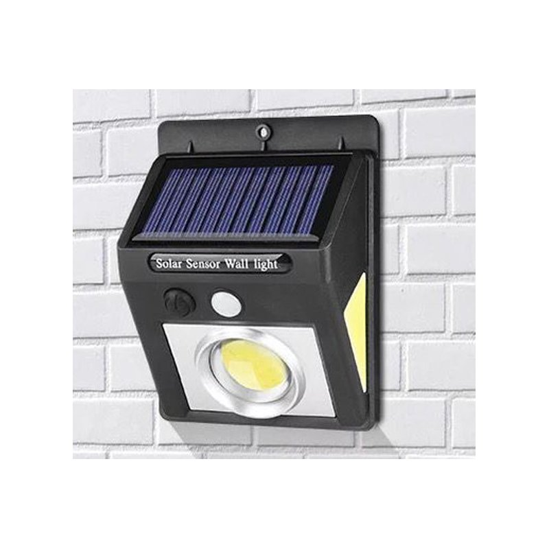 Outdoor LED Solar Power Motion Sensor Lamp Waterproof Garden Yard Wall Light Security Lighting Concave COB