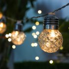 Outdoor LED Solar Waterproof Copper Wire Pineapple Ball String Light for Garden Festival Party Solar 20 LEDs