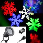 Outdoor LED white snowflake lawn Light