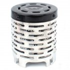 Outdoor Mini Portable Heating Stove Stainless Steel Camping Plug Heater As shown