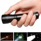 Outdoor Mini Zoom Telescopic Focusing Flashlight for Camping Hunting Hiking L2 single flashlight