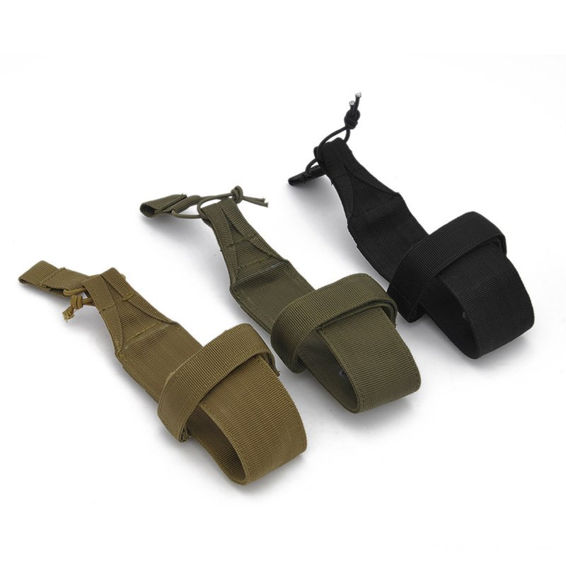 Outdoor Nylon Bottle Package Solid Color Wear-resistant Bag for Travel Hiking Khaki_One size