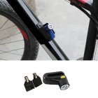 Outdoor Riding Equipment Mini Portable Anti-Theft Safety Disc Brake Lock for Mountain Bike Motorcycle Electric Vehicle black_free size