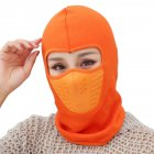 Outdoor Sleeve Cap Winter Warm Bicycle Face Mask Bike Climbing Skiing Windproof Thermal Polar Fleece Head Protector Orange_Polar fleece