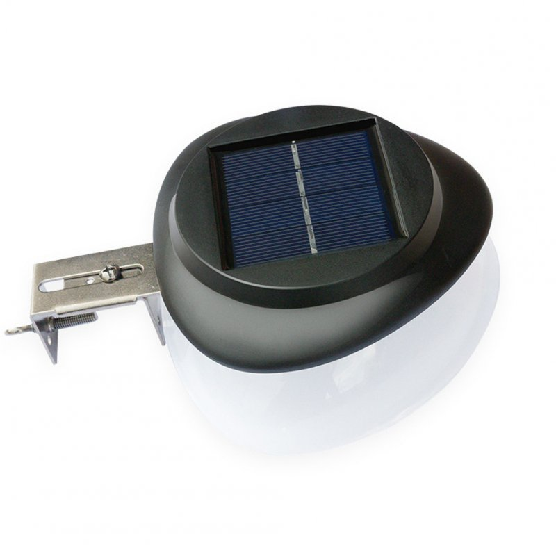 Outdoor Solar LED Wall Light Wall Yard Fence Night Pathway Outdoor Night Light  Black shell white light