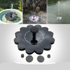 Outdoor Solar Powered Fountain Pool Lake Pond Aquarium Garden Gardening Decoration 16x16cm_Charged 800MA