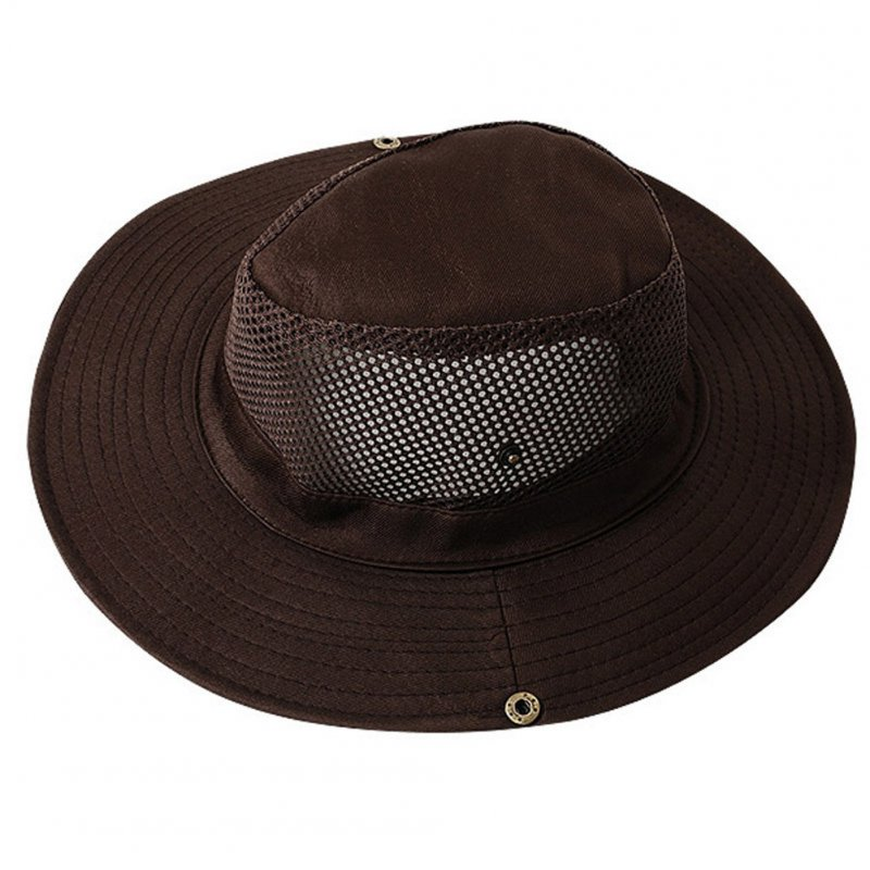 Outdoor Sunscreen Fishing Cap Breathable Outdoor Shade Fisherman Hat Tourism Mountaineering Camping Hat Brown_M