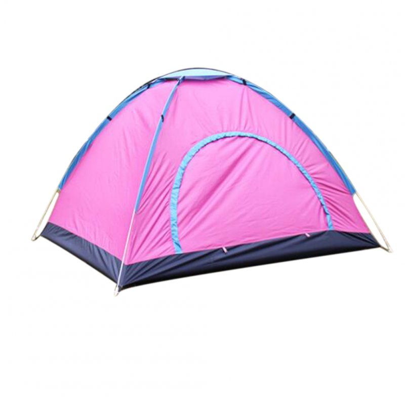 Outdoor Tent Waterproof Automatic Quick-opening Camping Double Layer Tent for Outdoor Travel Hiking Rose red_3-4 people