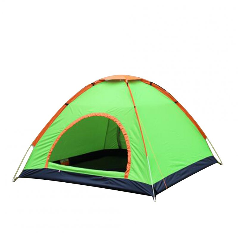 Outdoor Tent Waterproof Automatic Quick-opening Camping Double Layer Tent for Outdoor Travel Hiking Fruit green_Double