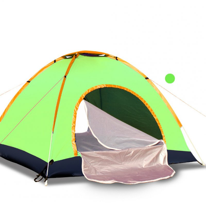 Outdoor Tent Waterproof Automatic Quick-opening Camping Double Layer Tent for Outdoor Travel Hiking Fruit green_3-4 people
