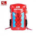 Outdoor Three Color Backpack Swimming Fashing Drifting River Tracing Backpack Airbag red_56*32*20cm