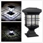 Outdoor Waterproof Solar-Powered LED Lawn Pin Lamp Fence Light Landscape Lamp White light