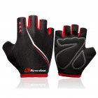 Outdoors Breathable Damping Riding Gloves for Women Men Fitness Half-finger Mountain Bike Gloves red_XL