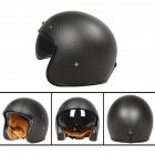 Retro Helmet Carbon Fibre Half Helmet Half Covered Riding Helmet Matt 3K carbon fiber M