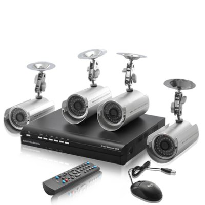 Outdoors DVR Surveillance Kit - SecurONE Lite
