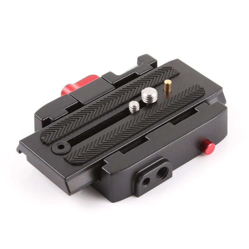 P200 Quick Release QR Clamp Base Plate for Manfrotto 500 AH 701 503 HDV 577 black