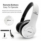 P47 Bluetooth Headset Foldable Wirless Stereo Earphone Support MP3 TF Card With Mic Widely Compatible Headphone  Matte white