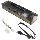 PCIe PCI-E V8.4D EXP GDC External Laptop Video Card Dock / Laptop Docking Station (Mini PCI-E interface Version) brown