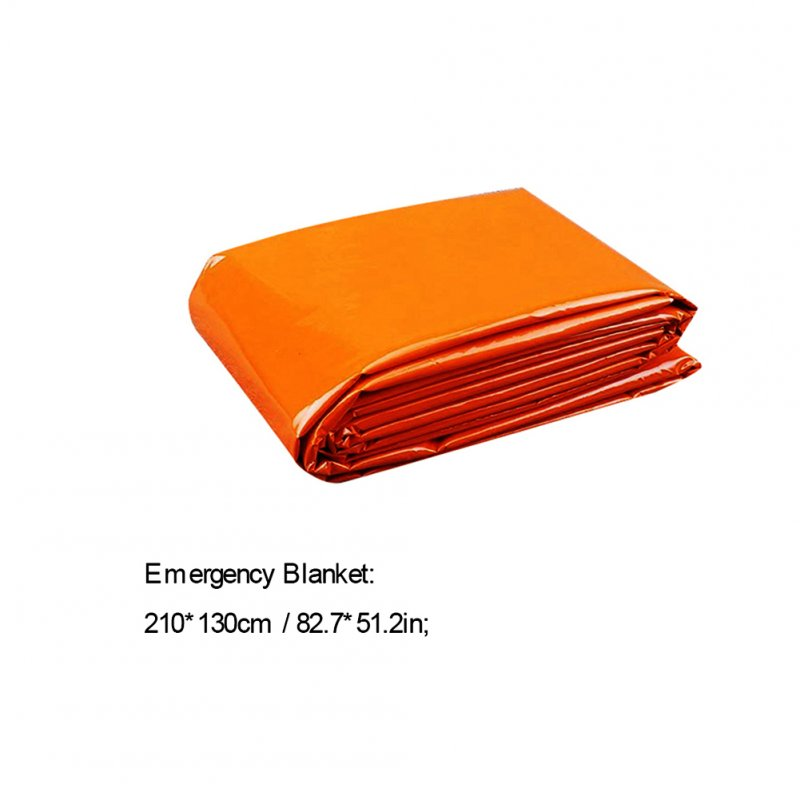PE Emergency Blankets Lightweight Thermal Mylar Foil Windproof Rescue Blankets Outdoor Survival Gear