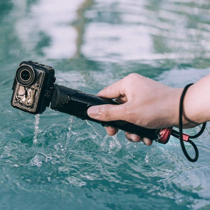 PGYTECH Floating Diving Hand Grip Underwater Selfie Stick for DJI Osmo Action/Pocket GoPro/SJ4000/5000 Sports Camera black