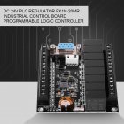 PLC Programmable Controller DC 24V PLC Regulator FX1N-20MR Industrial Control Board Programmable Logic Controller black