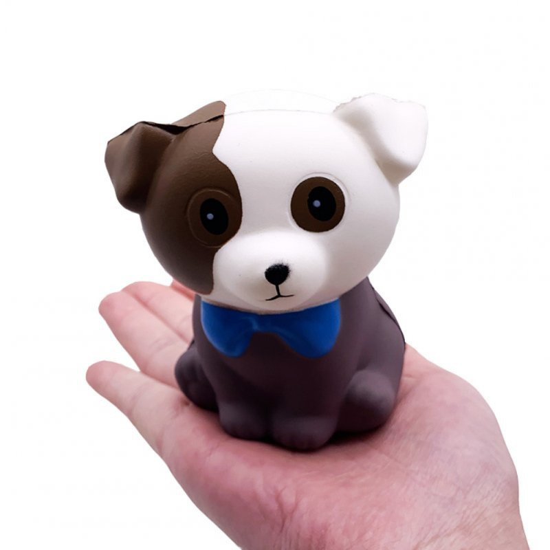 PU Doll Slow Rebound Decompression Toy Simulated Doggy Squishy Foam Relaxed Toy dog_11 * 9 * 7cm