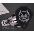 PU Leather Boxing Glove Arc Fist Target Punch Pad for MMA Boxer Muay Thai Training Silver