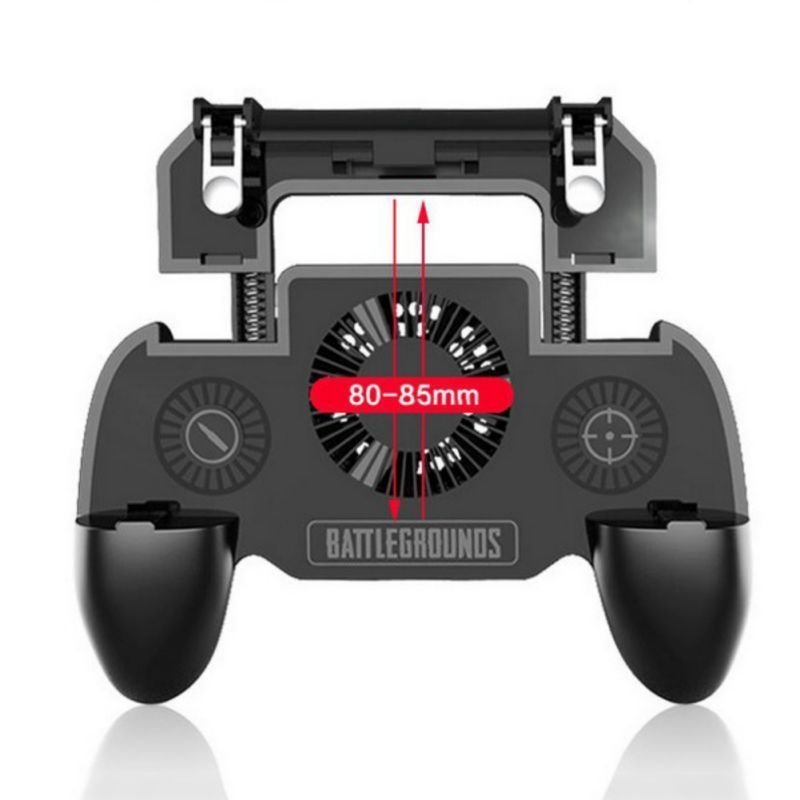 PUBG Mobile Phone Game Controller Joystick Cooling Fan Gamepad for Android IOS  black