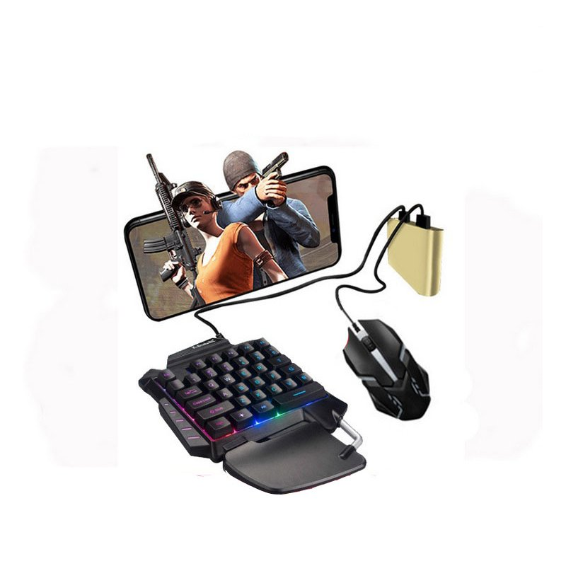 PUBG Mobile Phone Game Controller Mouse Keyboard Battledock Converter  Adapter + mouse + keyboard