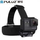 PULUZ Waterproof Head Band Mount Adjustable Elastic Head Band Strap for GoPro Hero 5 4 Session 3+3 2 1  black
