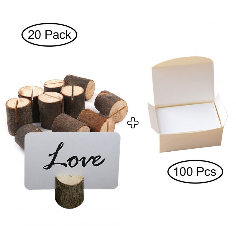 Pack of 10 Wedding Place Wooden Photo Card Holders Table Number Stands for Home Party Decorations Memo Note Clip