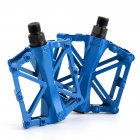 Pair Ultra-light Non-slip Aluminum Alloy Bicycle Mountain Bike Pedal blue
