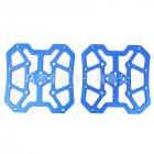 Pair of Aluminum Alloy MTB Mountain Bike Bicycle Pedal Platform Adapters for SPD for KEO Bicycle Parts Lightweight blue_One size