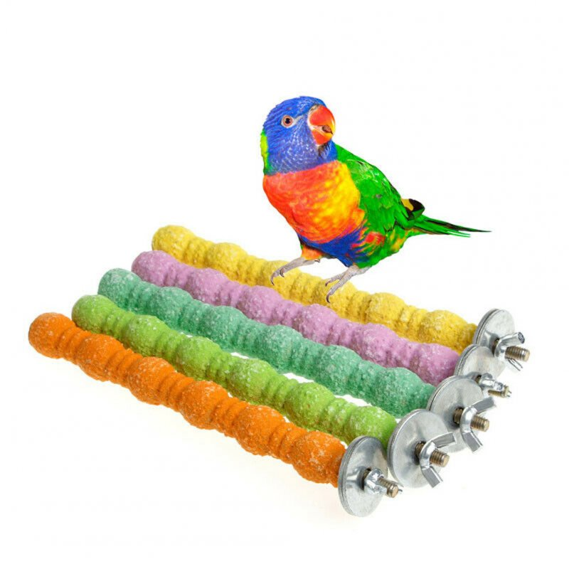 Parrot Station Rack Claw Grinding Stand for Pet Bird Cage Random Color Random colors