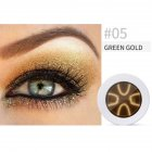 Pearl Light Matte Gradient Eyeshadow Contour Powder Makeup Tool Face Highlighter 5# green gold