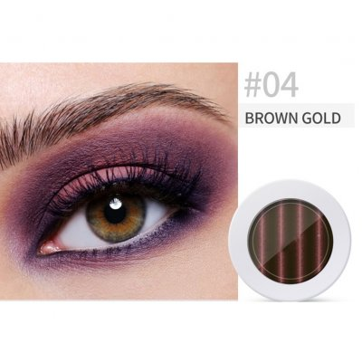 Pearl Light Matte Gradient Eyeshadow Contour Powder Makeup Tool Face Highlighter 4# brown gold