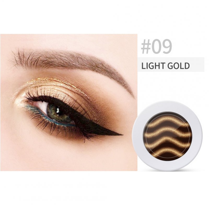 Pearl Light Matte Gradient Eyeshadow Contour Powder Makeup Tool Face Highlighter 9# light gold