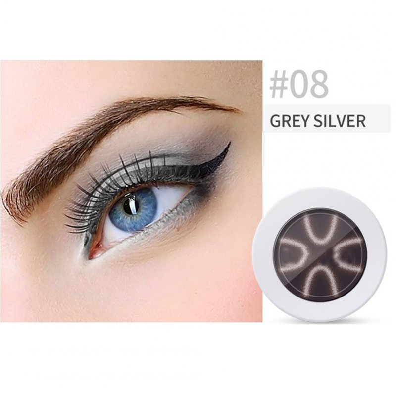 Pearl Light Matte Gradient Eyeshadow Contour Powder Makeup Tool Face Highlighter 8# silver grey