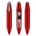 Pen-shape Mini Phone Tiny Screen Bluetooth Dialer Mobile Phones with Recording red