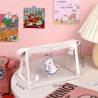 Pencil Bag Transparent Waterproof School Pencil Case for Kid Girl Office Travel Supplies Bear