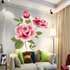Peony Flower Wall Stickers Removable Decal for Home Living Room Decor DIY Art Decoration Layout specifications 50 * 70cm