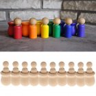 People Nesting Peg Dolls Wooden Unfinished DIY Decor Wedding Cake Topper Home Ornament Kids Toys Crafts 10PCS Set