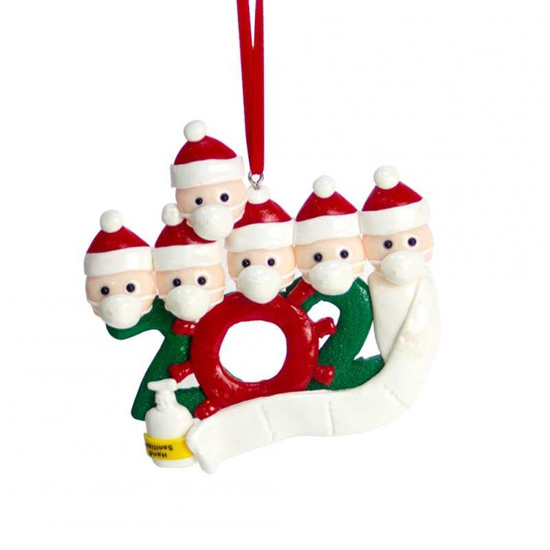 Personalized Name Christmas Ornament kit with Mask for Family Christmas Decor 6 snowmen