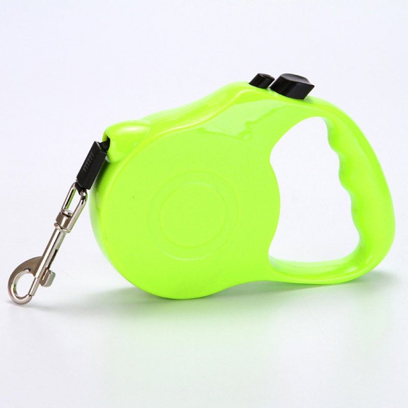 Pet Automatic Retractable Walking Lead Leash with Flat Rope for Dog green_5 meters