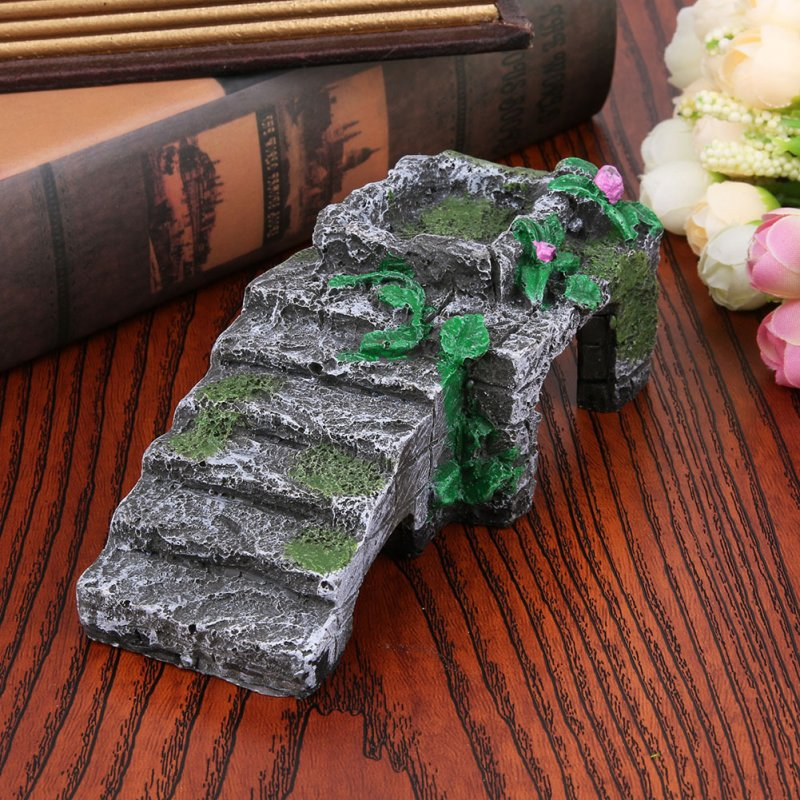 Pet Basking Platform Corner Ramp Toy for Tortoise Reptiles Snake Aquarium Decoration  Medium