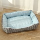 Pet Bed Cold Pad Ice Silk Mat Stripe Dog Kennel Cushion for Medium Small Dogs Cats Sleeping Nest
