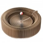 Pet Breathable Nest Collapsible Cardboard Scratcher Toy for Cats as shown 52 52 13cm