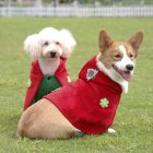 Pet Christmas Hooded Clothes Funny Cospaly Costume with Red Hat Coat red_L